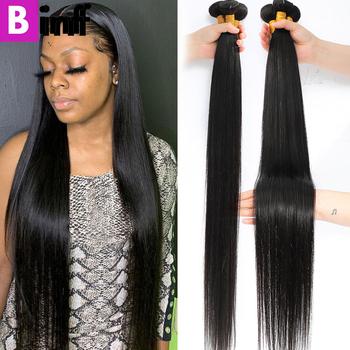 32 34 36 40 cali pasma prostych włosów brazylijski Remy włosy wiązki ludzkich włosów podwójne pasma doczepy z ludzkich włosów dla czarnych kobiet tanie i dobre opinie BINF Proste CN (pochodzenie) Brazylijskie włosy Po ondulacji Tkactwo Ludzkie włosy Podwójny wątek robiony maszynowo