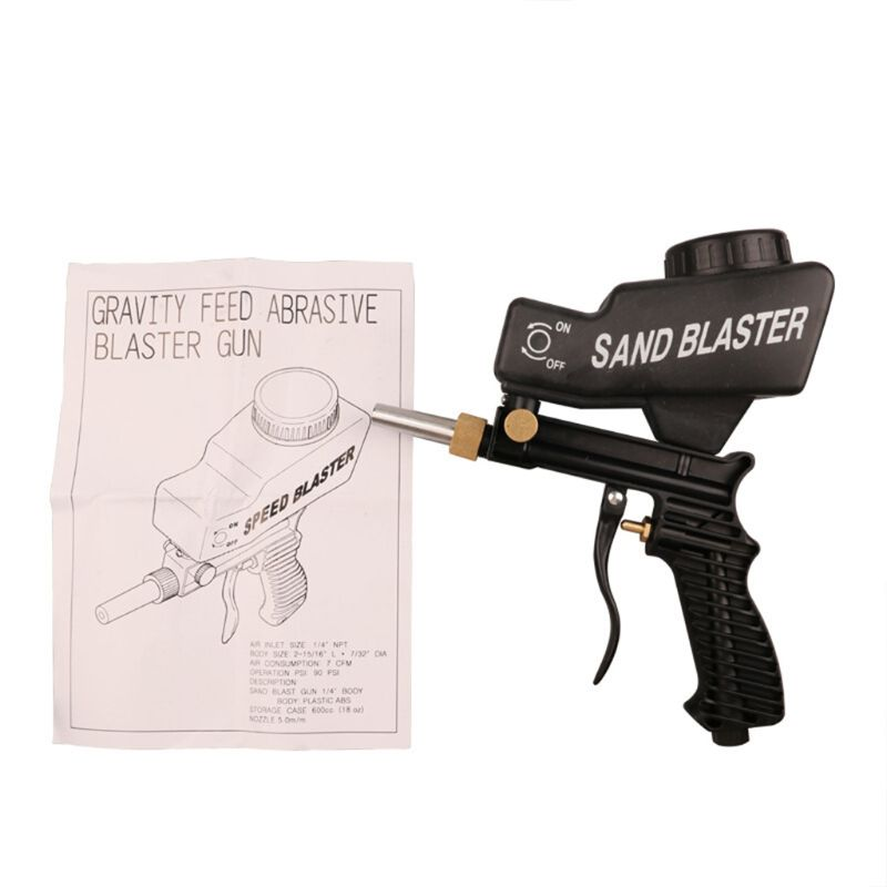 Anti rust Protection Air Spot Sand Blaster Gravity Feed Sandblasting Handheld 37MD|Spray Guns| |  -