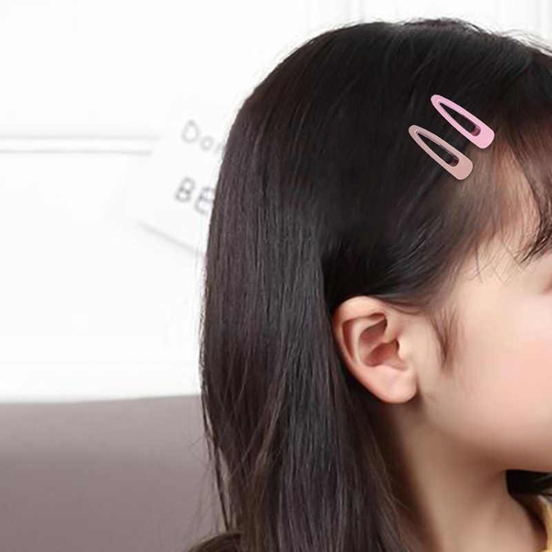 New Women Fashion Cute Candy Color Colored Matte Duckbill Hair Clip Solid Barrettes Headbands Girls Headwear Hair Accessories