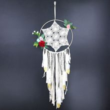 Wind Chimes Handmade Indian Dream Catcher with Beautiful Flower Wall Car Bedroom Decor Hanging Ornaments