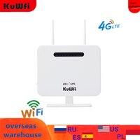 Router LTE 4G sbloccato KuWFi Router CPE Wireless 300Mbps e Modem Wireless Router AP LTE con scheda SIM Solt 2 * 5Dbi Antenna esterna
