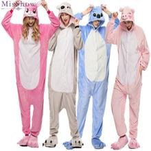 цены на 2019 Winter Women Kigurumi Onesie Unicorn Stitch Totoro Pajamas Sets Cute Flannel Animal Pajama Nightie Warm Sleepwear Costume  в интернет-магазинах
