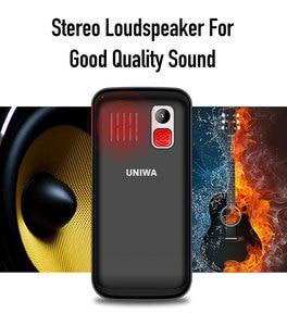 Image 5 - UNIWA V808G Strong Torch Push Button Loud Cellphone Big SOS 3G English Russian Keyboard 10 Days Standby 3G WCDMA Senior Mobile