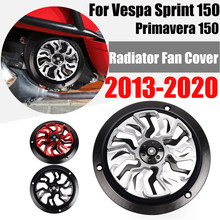 Capa do motor da motocicleta fã capa protetor radiador guarda acessórios para vespa sprint sprint 150 primavera 150 2013-2020