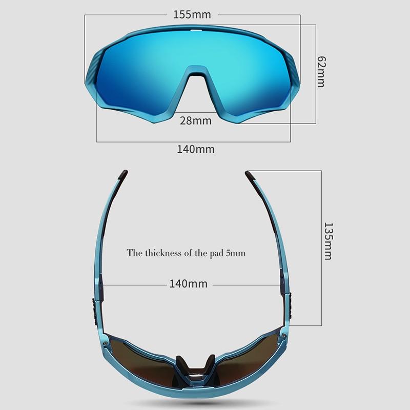 Image 5 - 2019 Polarized 5 Lens Cycling Glasses Road Bike Cycling Eyewear Cycling Sunglasses MTB Mountain Bicycle Cycling Goggles UV400Cycling Eyewear   -