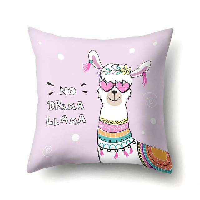 No Drama Llama Cushion Cover  6