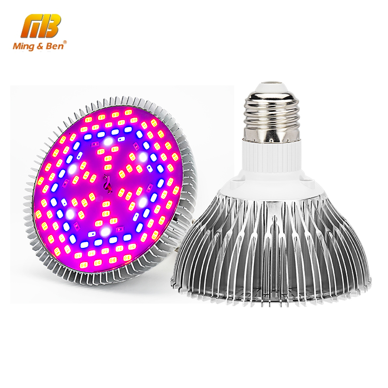 LED Grow Lights Full Spectrum 5W 10W 30W 50W 80W AC 85-265V Phyto Bulbs Lamps For Garden Plants Hydroponics Grow Tent Fitolampy