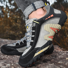Men Outdoor Shoes Leather Trekking Hiking Shoes Men Breathable Tactical Shoes Men Sneakers Sport Mountain Climbing Hunting Shoes winter outdoor genuine leather hiking shoes men brand breathable plush lining hiking shoes hunting climbing sport shoes sneakers