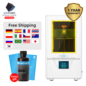 ANYCUBIC 3D Printer Photon-S Newest LCD 405nm UV resin 2.8 inch color TFT Screen LCD Screen Quick Slice 3d Printer DIY Kit 1