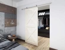 DIYHD Brushed Stainless Steel Top Mount Sliding Barn Door Track Easy Mount Barn Closet Wood Door