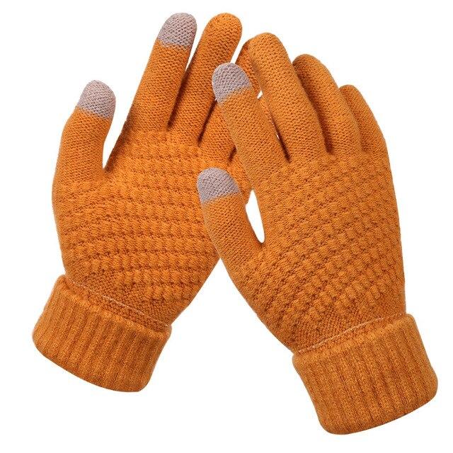 Bright Orange Gloves for Men and Women