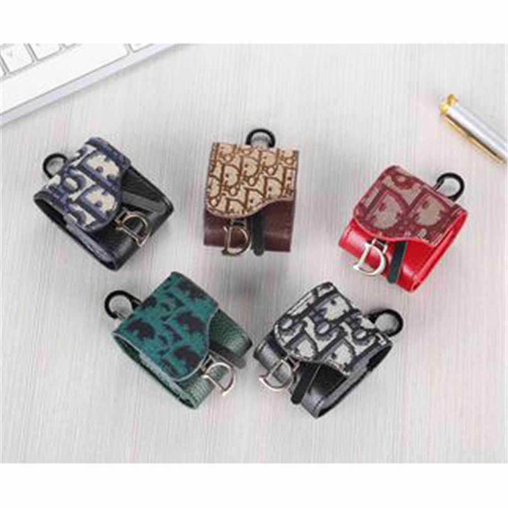 Headphone Charging Dustproof Protective case Coque Hook Accessories For AirPods1/2 Pro Earphone case Trendy Leather funda Cover