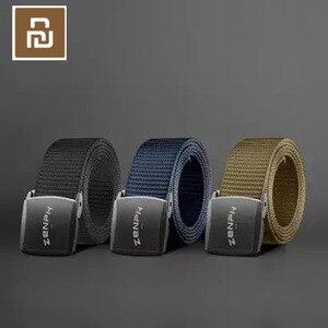 Image 1 - Youpin حزام لا المعادن في الهواء الطلق التكتيكية حزام YKK البلاستيك الصلب مشبك 196 خاص شريط من النايلون تعديل طول لانهائي
