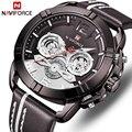 Топ бренд класса люкс NAVIFORCE часы мужские спортивные кварцевые наручные часы кожаные мужские часы с календарем армейские