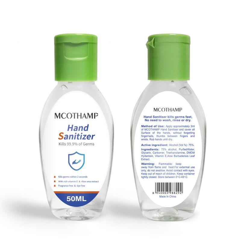 50ml Disposable Hand Sanitizer Soap Gel Aloe Moisturizing No Clean Disinfectant