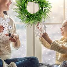 Венок из листьев эвкалипта, дверной настенный белый цветок, вращающаяся ветка для резки, весеннее украшение для дома, высокое качество, быстрая