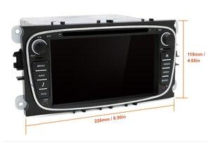 Image 4 - DSP Android 10.0 samochodowy odtwarzacz DVD 2 Din radio GPS Navi dla Ford Focus Mondeo Kuga C MAX S MAX Galaxy Audio Stereo jednostka główna