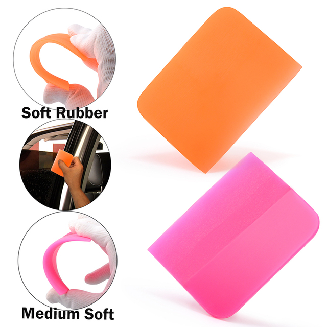 FOSHIO Soft PPF Wrapping Squeegee Vinyl Car Wrap Window Tint Film Install Scraper Carbon Fiber Sticker Remover Cleaning Tool