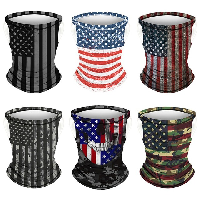Multifunction Face Coverings American flag outdoor sports breathable mask cool and comfortable scarf magic turban Unisex 3