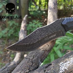 Image 4 - Sabit bıçak bıçak 8CR13MOV çelik bıçak naylon kılıf savaş bıçakları için iyi avcılık kamp Survival açık ve günlük taşıma