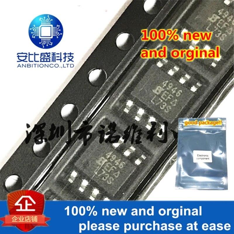 10pcs 100% New And Orginal SI4946EY-T1-E3 SOP-8 SI4946 N 4946 60V 4.5A MOS In Stock