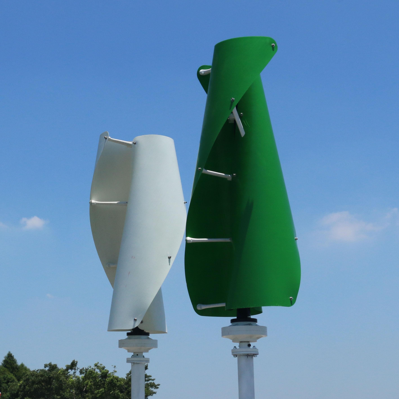 FLTXNY 1000W Vertical Wind Turbine Permanent Magnet Generator 3 Phase 1000w 12V 24V Vertical Axis Coreless Wind Generator