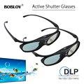 2 шт BOBLOV активные 3D очки DLP-Link USB синие совместимые BenQ W1070 W700 Dell проектор 3D очки для проектора DLP