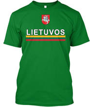 2019 New Summer Men Men 100% Cotton Cool Lithuanian Lietuvos Sporter Flag Deluxe Create A Shirt(China)