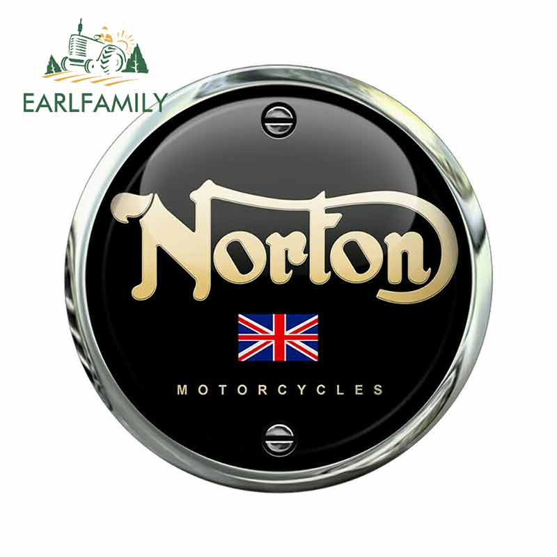 EARLFAMILY 13cm X 13cm For Norton Motorcycles Fine Car Stickers Vinyl Material DIY Occlusion Scratch Fashion Decal Decoration