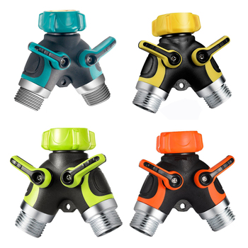 Tuin Water Connectors, Tuinslang Splitter, 2 Way Y Slang Connector Adapter Met 3 Rubberen Slang Ringen, slang Splitters
