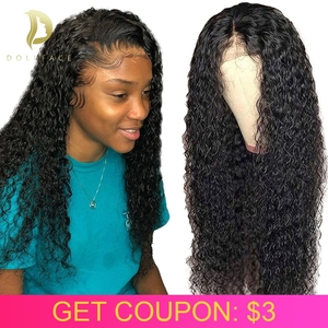 Curly lace front human hair wi