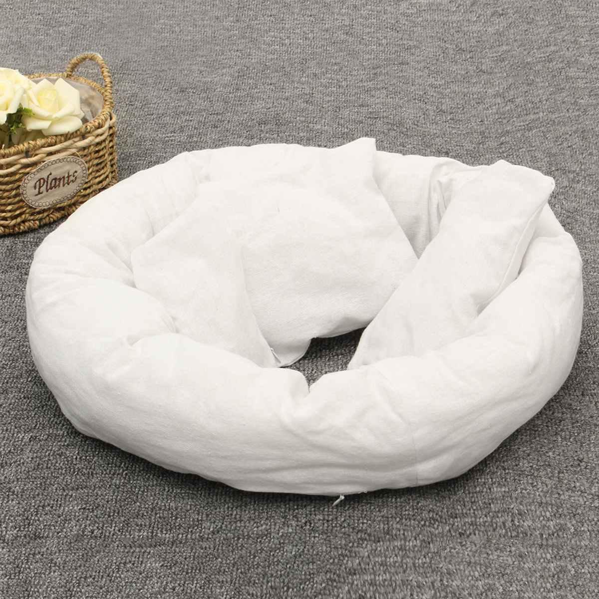 anel forma redonda travesseiro foto do bebê