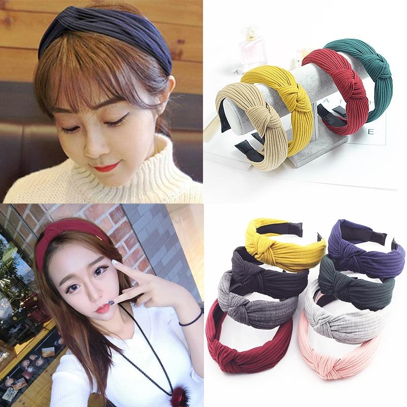 Hairband  Headband 1 PC New Twist  Bow  Women Girls Headwrap  Fashion Velvet