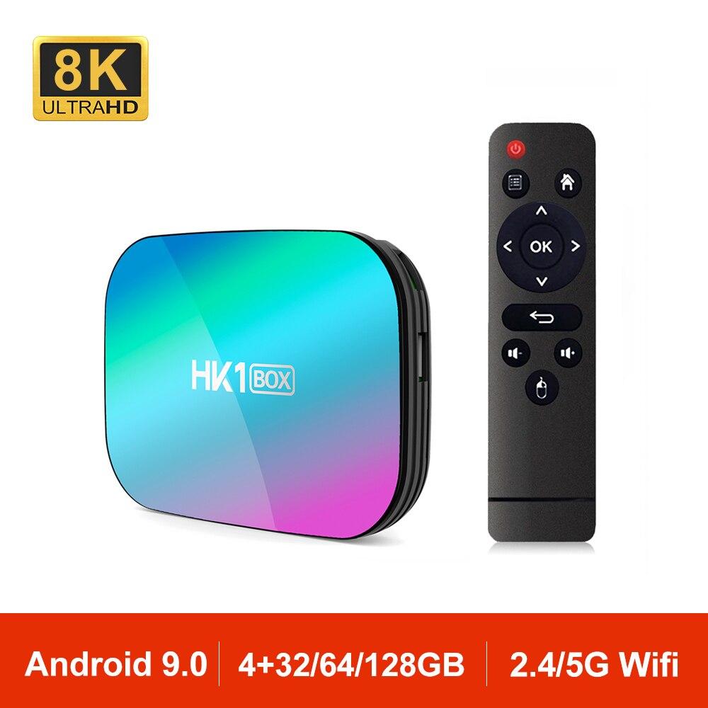 Android 9 0 TV Box Smart HK1 BOX Amlogic S905X3 2 4G 5G Dual Wifi AC BT4 0 LAN 1000M 8K Set Top Box HK1BOX 4GB VS MAX X96 H96