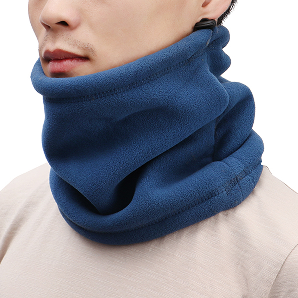 Hot 1Pcs Unisex Outdoor Multifunctional Scarf Thermal Double Layers Polar Fleece Winter Warm Fleece Snood Neck Warmer Ski Hat