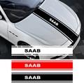 1 шт. наклейка на капот автомобиля Водонепроницаемый устойчиво к царапинам крышка двигателя Стикеры для автомобиля SAAB 9-3 9-5 93 9000 900 9-7 600 99 9-X ав...