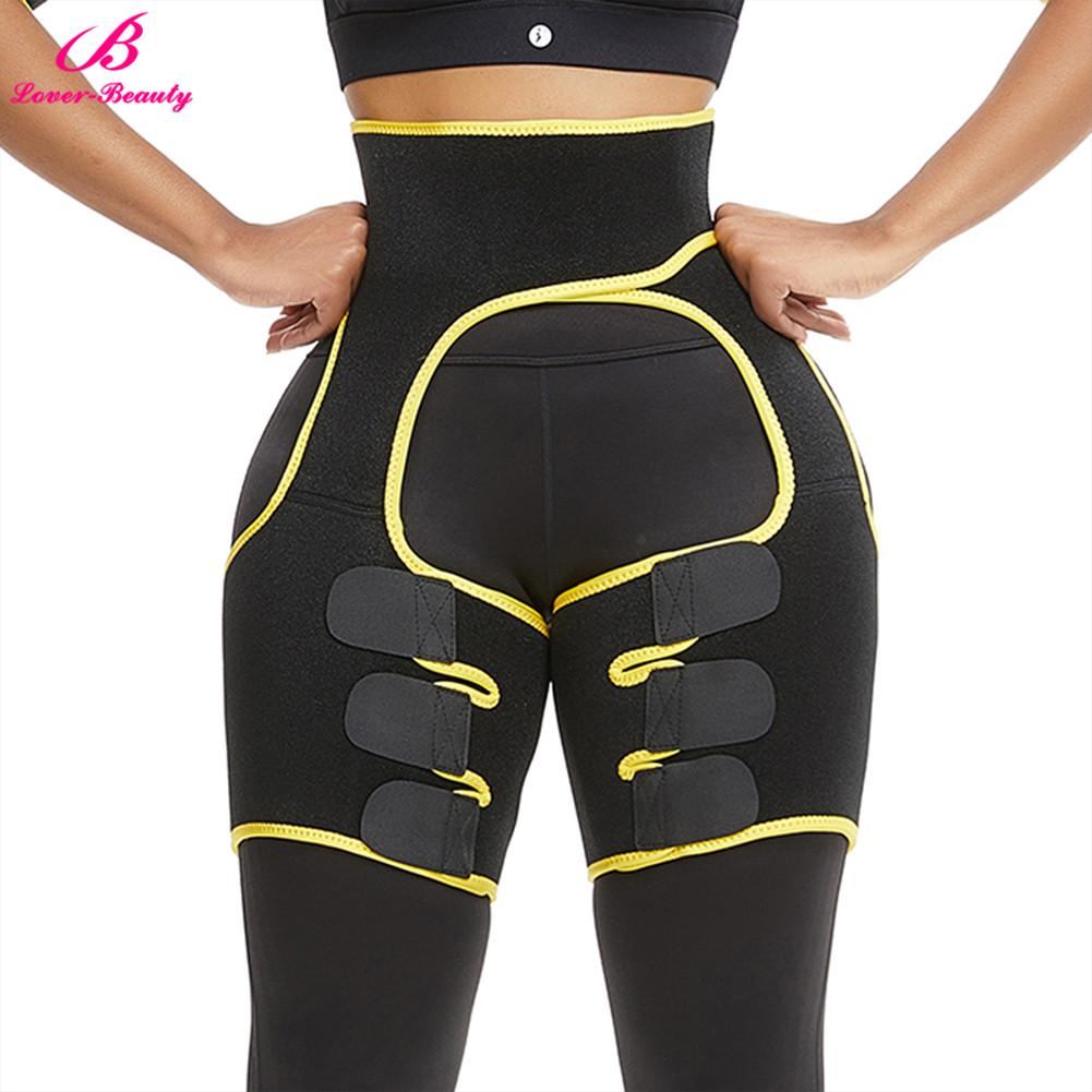 Lover-Beauty Neoprene Thigh Trimmers Leg Shaper Slimming Belt Lose Weight Tummy Control Shapewear Butt Lifter Compress Belt