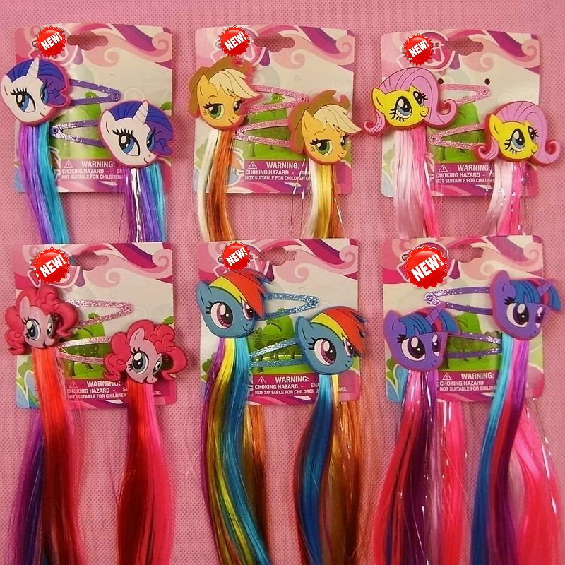 My Little Pony Unicorn Paired Hairpins Kids Girls Cosplay Costumes Princess Braid Hair Clips Cosplay Hair Accessories Headwear19