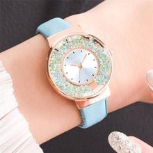 Luxury Brand Rhinestone Watches Women Fashion Diamond Quartz Clock Casual Elegan