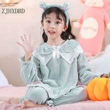 Новинка 2021 года пижамные комплекты для маленьких девочек фланелевая
