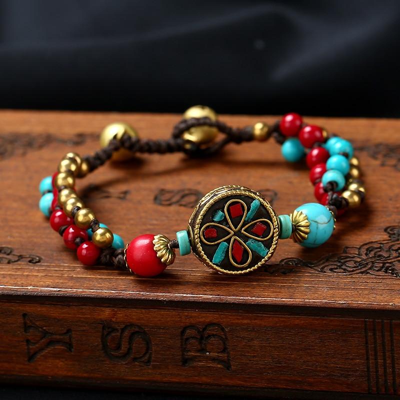 5-Designs-vintage-Nepal-bracelet-New-handmade-braided-bracelet-nature-stones-Original-Design-Simple-ethnic-bracelet