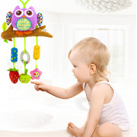 Cartoon Baby Toys Bed Stroller baby mobile Hanging Rattles Newborn Plush Toy baby toys 0 12 months toys for baby