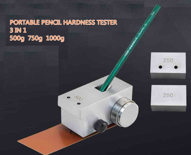 New 3 In 1 Portable Pencil Hardness Tester Meter Durometer 500g 750g 1000g QHQ-A Pencil Hardness Tester