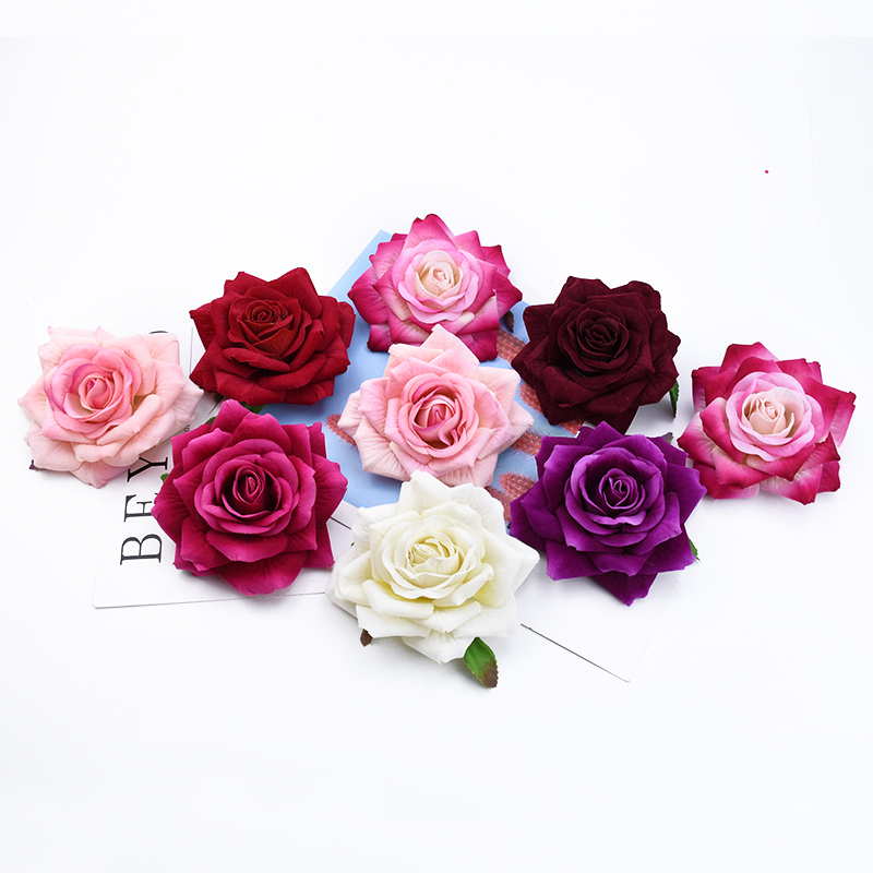 50/100 штук искусственные цветы для украшения дома свадебные аксессуары для невесты распродажа diy Подарочная коробка Скрапбукинг брошь для не...