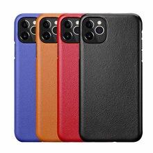 Kuzu derisi her şey dahil arka kapak iphone için kılıf Xs Max XR 11Pro max 7 8 artı metal düğme lüks deri kılıfları CKHB BD2