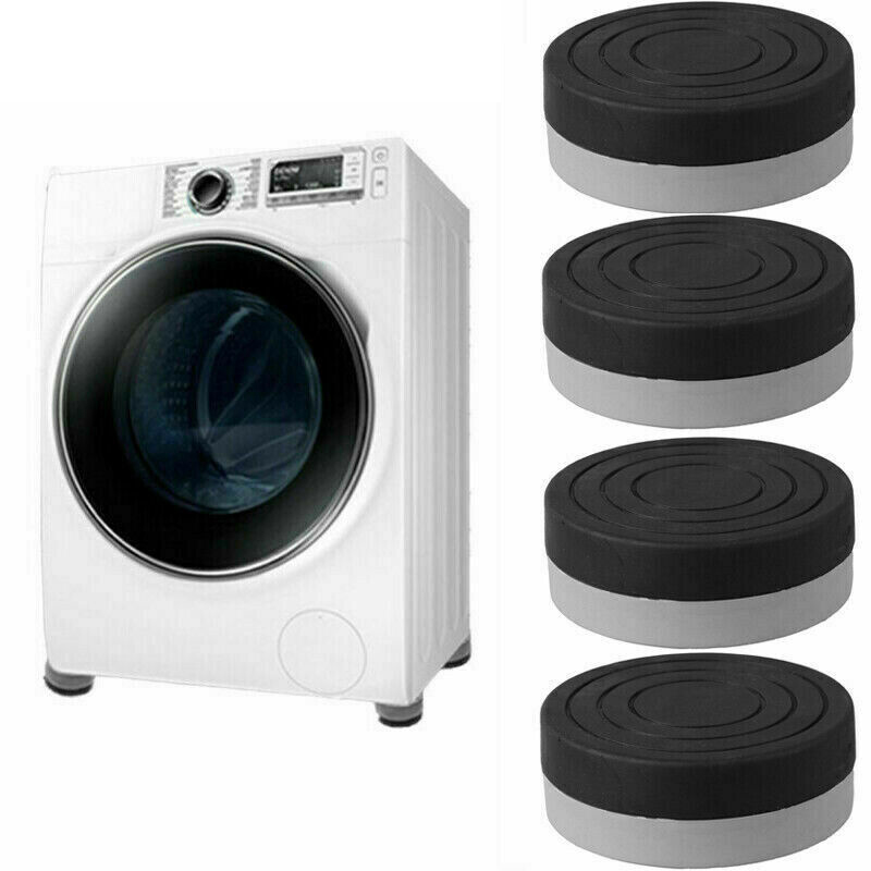 4Pcs Dryer Washing Machine Pad Anti-Vibration Anti-Walk Pads Raise Height Foot Mats Protectors Stand Refrigerator Furniture Pads