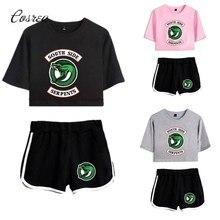 Roupa esportiva de riverdale, camiseta de riverdale, shorts, roupas esportivas para lado do sul
