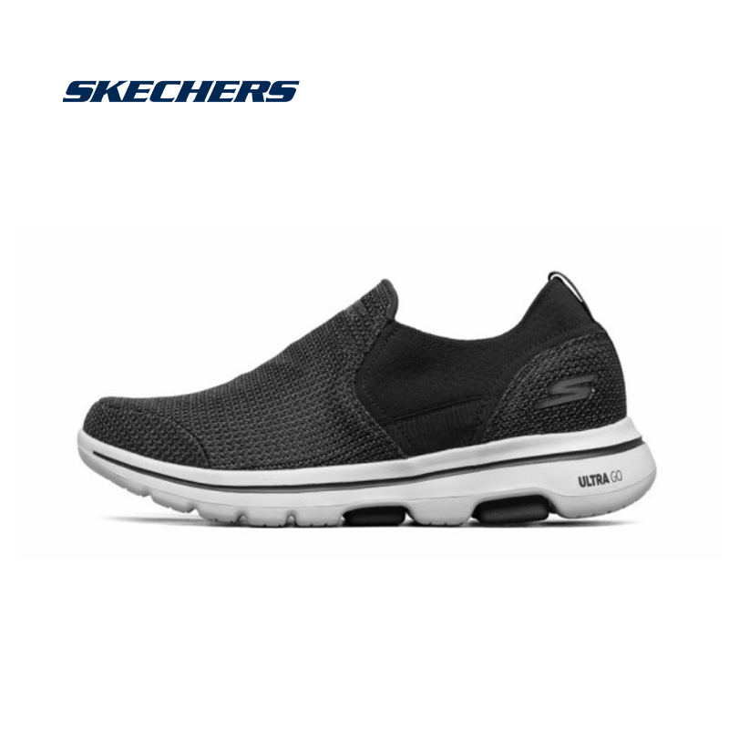 Skechers GOWALK 5 Men Casual Shoes Comfortable Breathable Loafers Men Slip On Driving Shoes Male Brand Design 216027-BKW