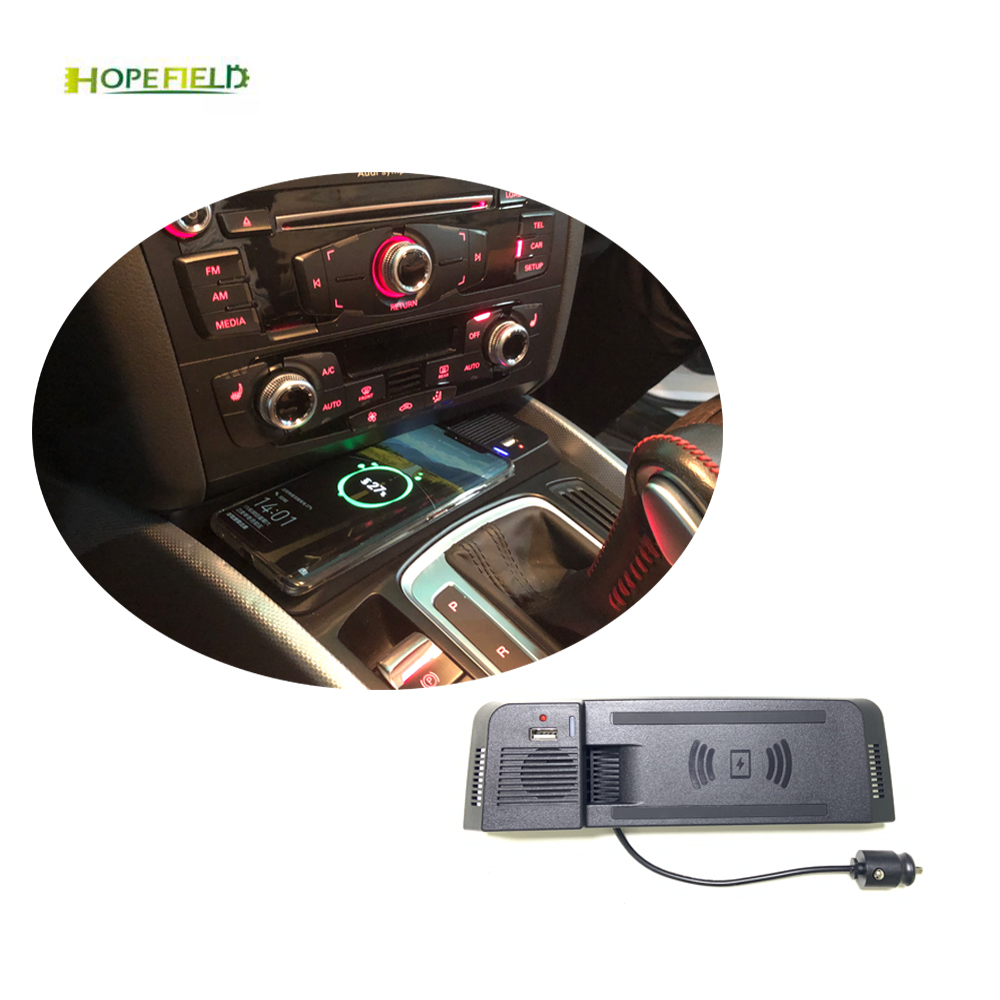 For Audi A5 S5 RS5 Q5 A4 Allroad A4 B8 B9 Wireless Phone Charger Mount Phone Holder Storage Drawer Fast Charging Panel Adapter