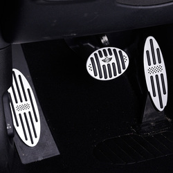 Dla BMW MINI Cooper S JCW F54 F55 F56 F57 F60 R60 R56 Clubman samochód pedał gazu naklejki dekoracyjne akcesoria do modyfikacji